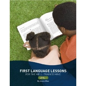 Great book for teaching language.  First Language Lessons for the Well-Trained Mind: Level 1