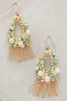 Anthropologie Fringed Wreath Earrings #anthrofave