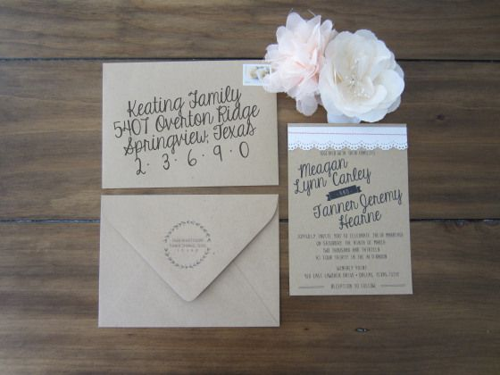 Simple Homemade Wedding Invitations: Pinterest: Discover And Save Creative Ideas