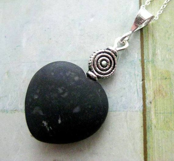 Irish Jewelry Kilkenny Marble Pendant Rare Black by HandmadebyAmor, €32.00