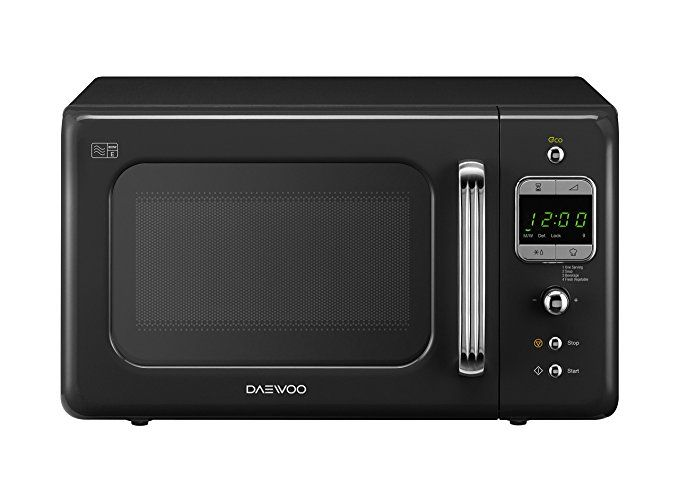 Daewoo Kor7lbkb Retro Microwave Oven 20 L Black Microwave
