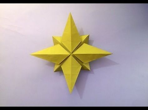 North Star Origami Tutorial - How to make an Origami North star - YouTube