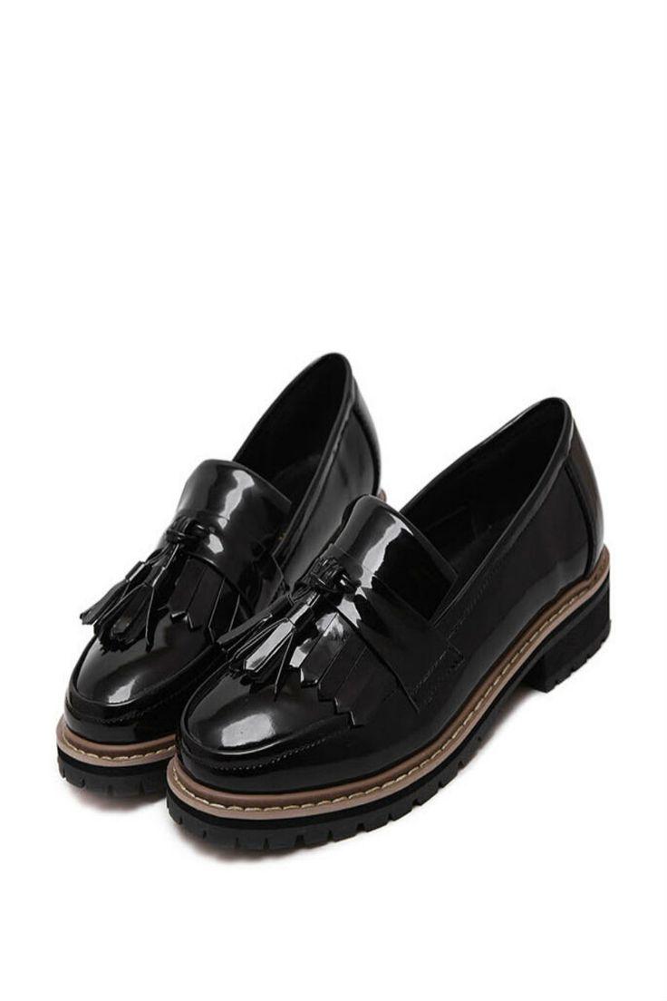 Black Tassel Oxford Shoes