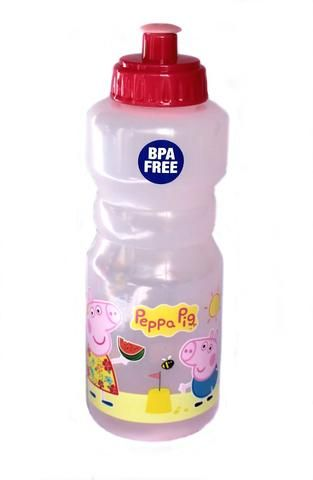 From Peppa Pig's Tropical range comes this BPA free plastic drink bottle! Perfect for any outting! Peppa Pig Tropical Drink Bottle