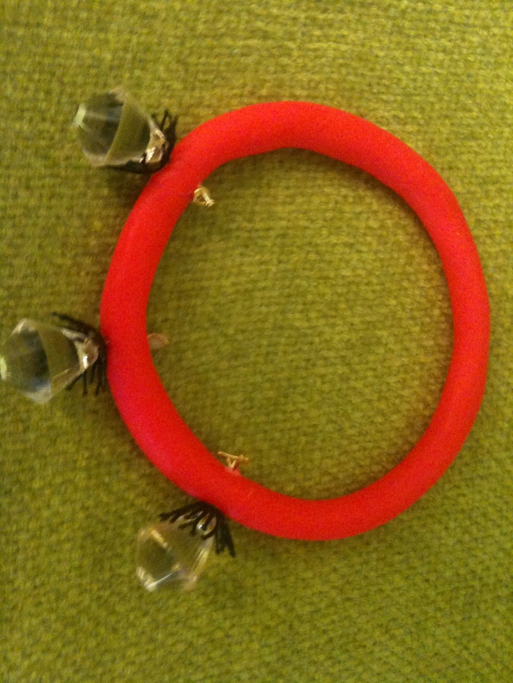 clay oversized bracelet