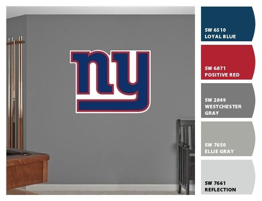 Ny Giants Man Cave Ideas : Best nfl bedrooms ny giants images on pinterest