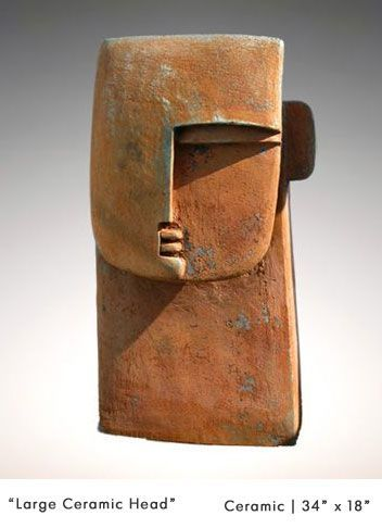 Tête. / Head. / Ceramics. / Céramique. / William Zimmer Gallery. / By Peter Hayes. #FredericClad