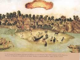 Los omaguas fueron una de las grandes naciones amazónicas. Poblaron las riberas del río Napo desde el siglo I. Su territorio abarcaba una extensión de más de 900 km². Sus elaborados trajes de algodón, sus desarrollos arquitectónico y artístico y el despliegue de sus capacidades en la navegación y el comercio les dieron el apelativo de los gentiles, por parte de los cronistasy viajeros de la época, de la conquista española, como fray Gaspar de Carvajal.