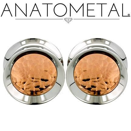 "3/4"" Standard Eyelets in ASTM F-138 Stainless Steel with Hammered Copper Inserts"