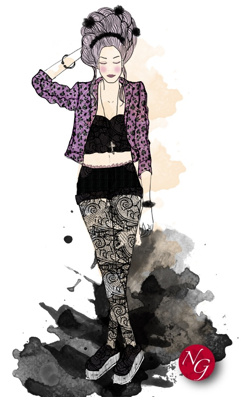 barocknroll  http://www.nefergarden.com/2013/01/15/barockn-roll/ #fashion #illustration