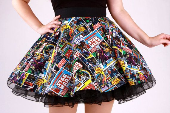 Star Wars Comic Circle Skirt by 1138Clothing on Etsy