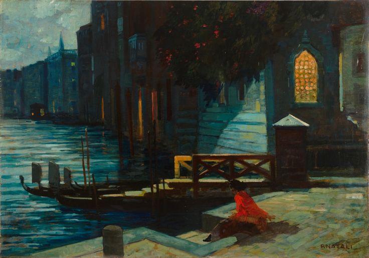 Renato Natali Notturno a Venezia Olio su tavola cm 70x100