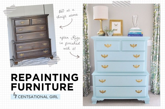 How to repaint your furniture- and 'love' that blue!: Paintings Furniture, Furniture Rehab, Diy'S, Painting Furniture, Old Dressers, Furniture Paintings, Projects Ideas, Great Tips, Repaint Furniture