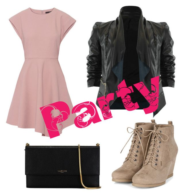 """""""Party"""" by simdanjoh on Polyvore featuring TIBI and Lanvin"""