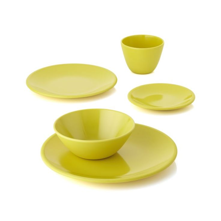 Lunea Melamine Yellow Dinnerware  | Crate and Barrel