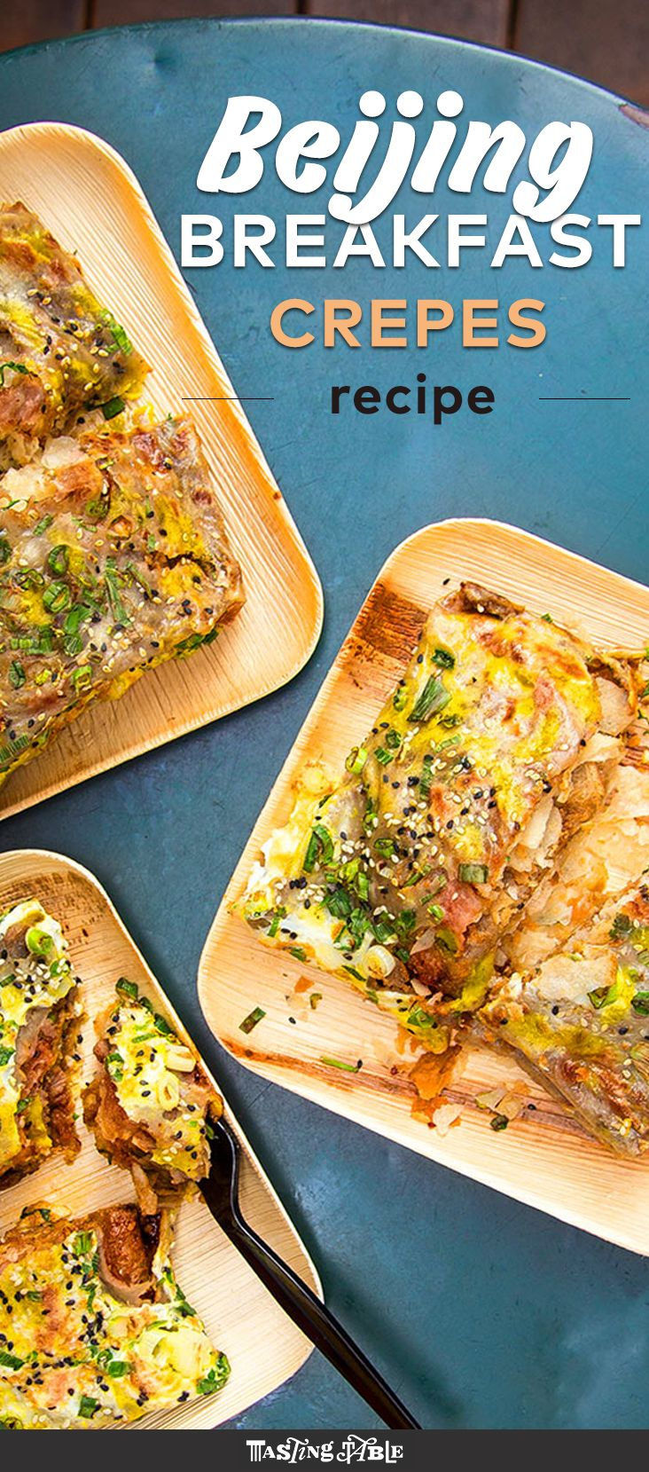 Say goodbye to breakfast burritos and hello to Chinese breakfast crepes filled with hoisin, egg and crispy wontons. Get the recipe on Tasting Table.