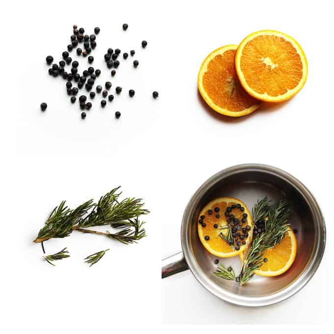 Orange juniper rosemary pot simmer | Rhubarbarians