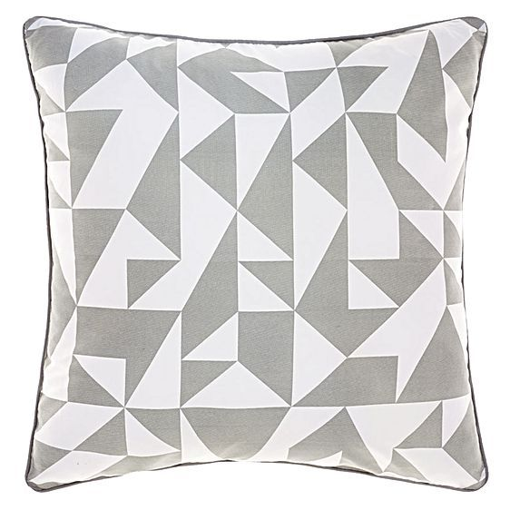 Showcase your modish style with geometry and muted colours in the cosy cotton Casper Cushion Cover from Deco.