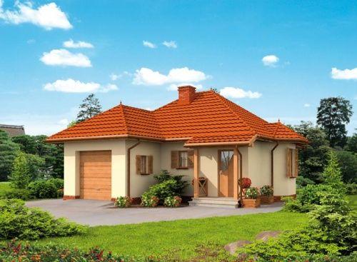 KANSAS - dom letniskowy. Pełna szyku i uroku budowla na którą składa się dom z garażem