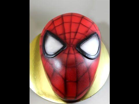 Kricky Cakes Decoration: Airbrushed Amazing Spiderman Cake tutorial HD - YouTube