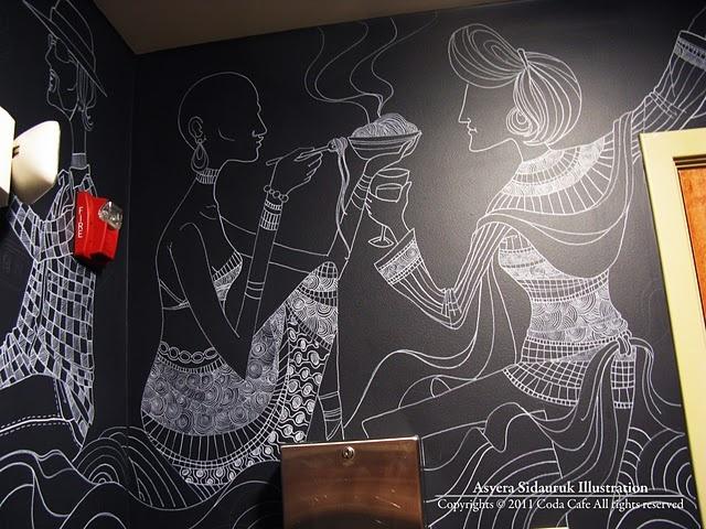 Wall mural at Coda Cafe by Asyera Sidauruk