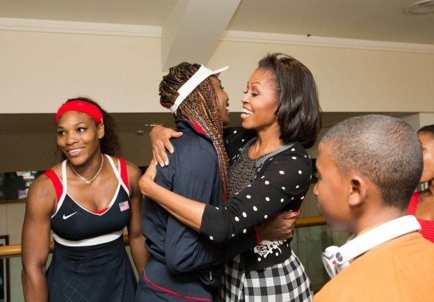 2012 London Olympics~1st Lady Michelle Obama with Venus and Serena