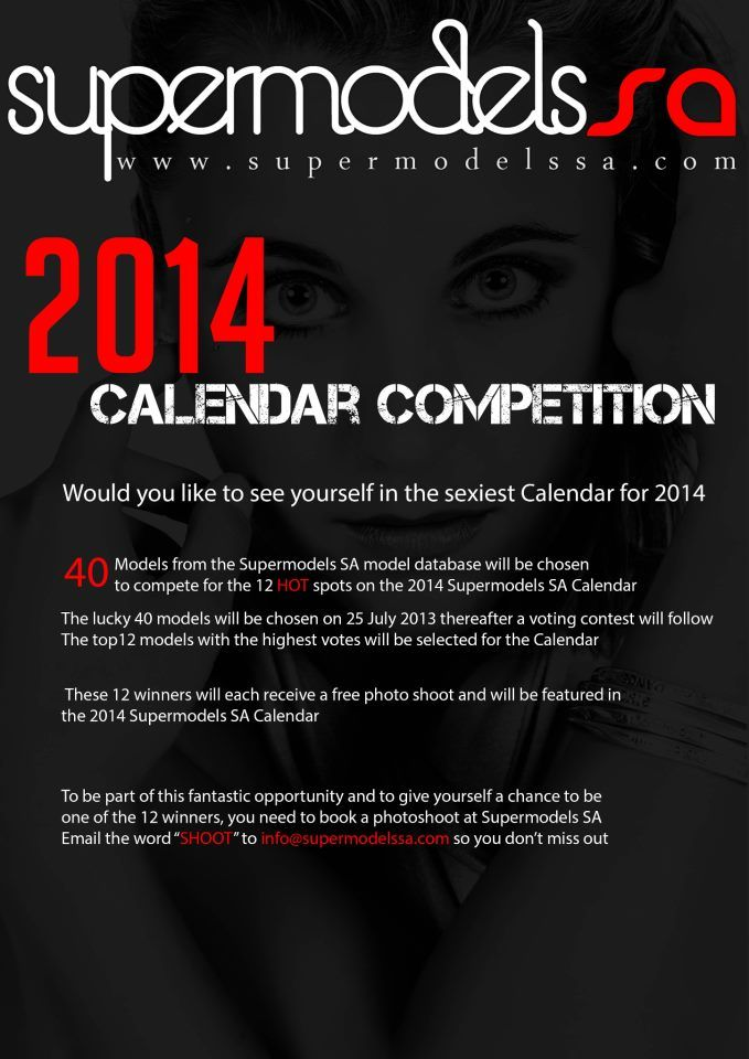 The 2014 Supermodels SA Calendar Competition