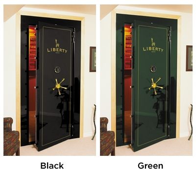 Vault Doors Feature Two beautiful high gloss finishes in green or black