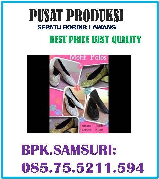 Sepatu Bordir Corak Keren Sepatu Bordir Corak Batik Sepatu