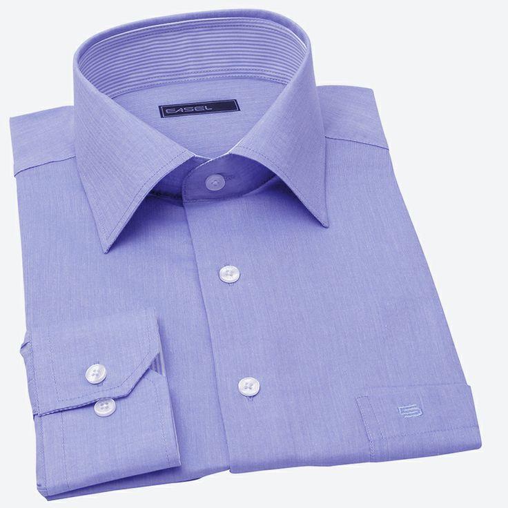 GOOD FELLAS-taş mavisi ince pamuklu gömlek