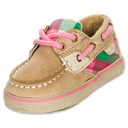 Girls' Toddler Sperry Topsider Bluefish Crib Shoes Linen/Sundress Check