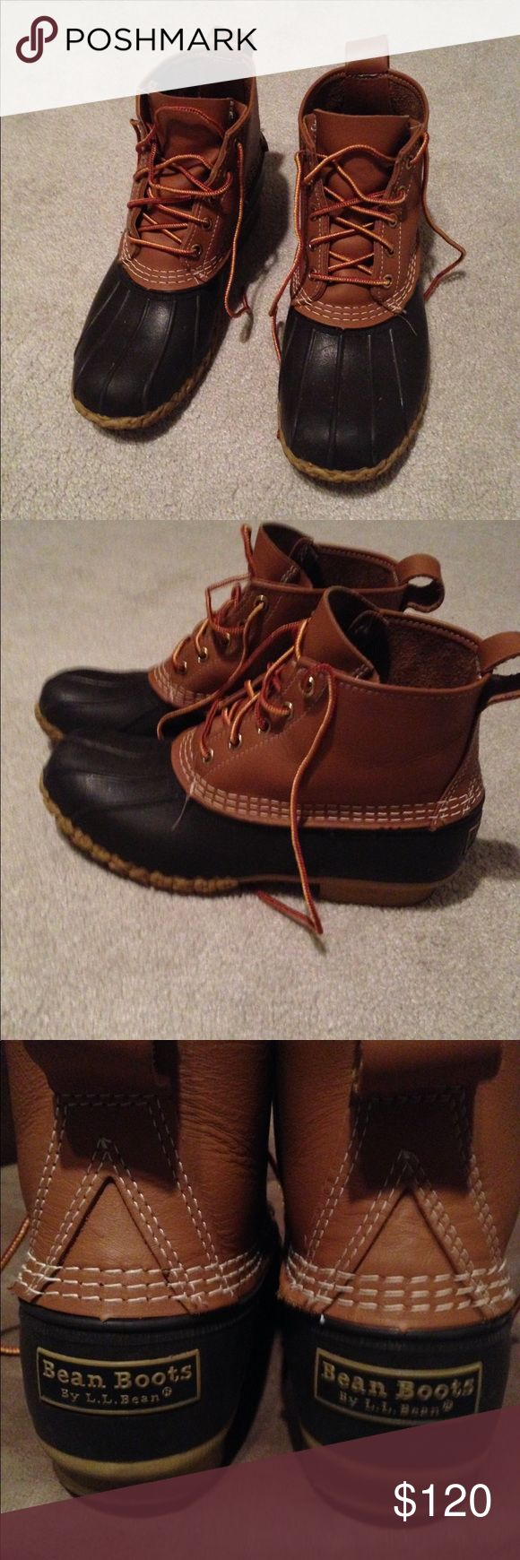 6 inch bean boots women's Hardly worn! Looks brand new. L.L. Bean Shoes Winter & Rain Boots