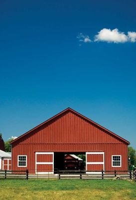 Front of pole barn