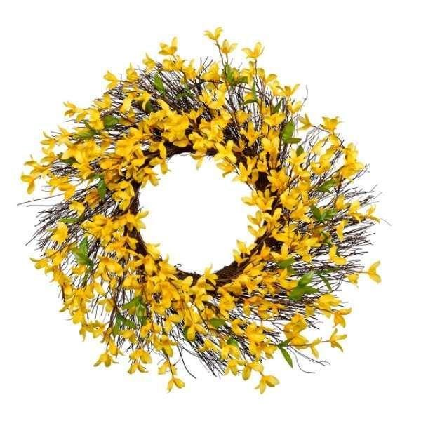 Ghirlande pasquali - Ghirlanda con fiori gialli