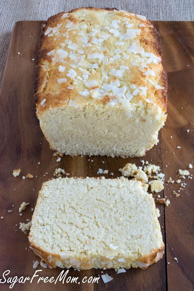 Sugar Free Lemon Coconut Pound Cake made low carb and gluten free!