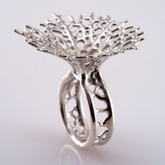 Hyphae Ring in sterling silver