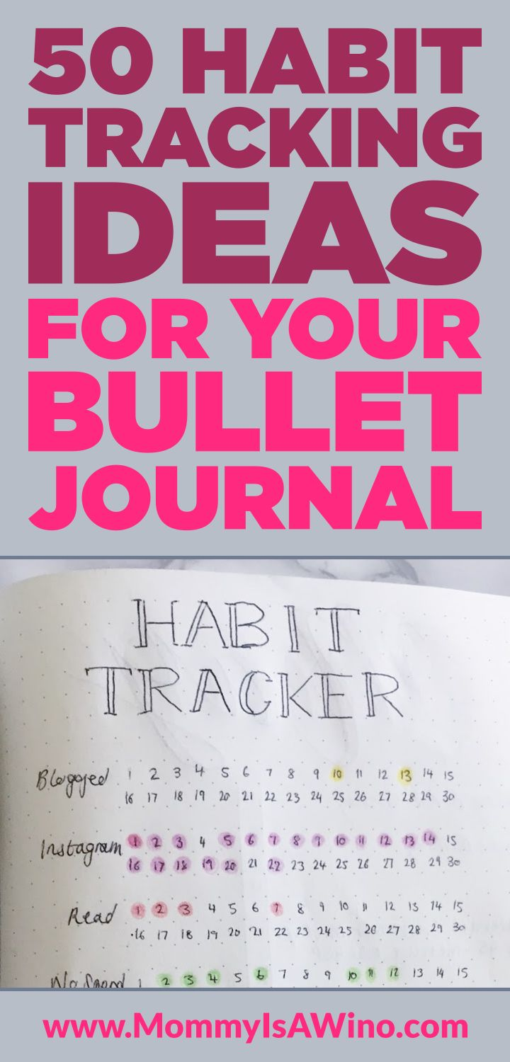50 Habit Tracking Ideas for your Bullet Journal - Plus 7 habit tracker layouts