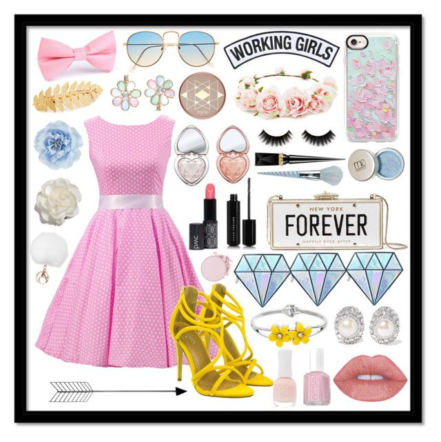 """""""Spring Break!🌷"""" by ma3-w3iss ❤ liked on Polyvore featuring Casetify, Working Girls, Forever 21, tarte, Monsoon, Avigail Adam, Too Faced Cosmetics, Christian Louboutin, Unicorn Lashes and Kate Spade"""