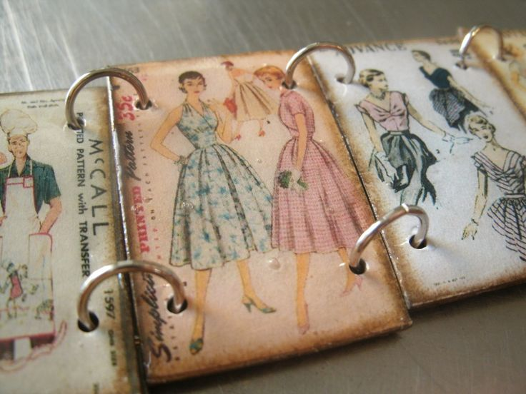 By Southernheldibelle  Vintage Sewing Patterns On Shrink Plastic