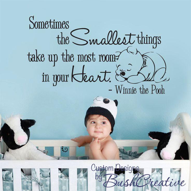 Wall Decal Winnie the Pooh Nursery Baby Smallest by bushcreative, $35.00