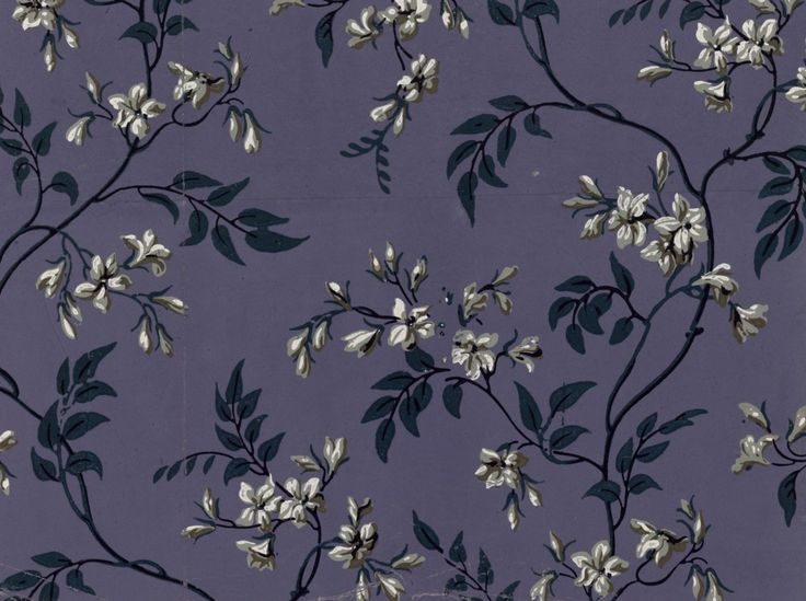 Paper, repeating pattern of jasmine branches   Manufacture Bon   1799   National Library of France   Public Domain