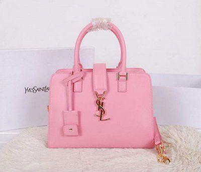 2014 New Yves Saint Laurent Small Cabas Monogram Bag in Pink ...