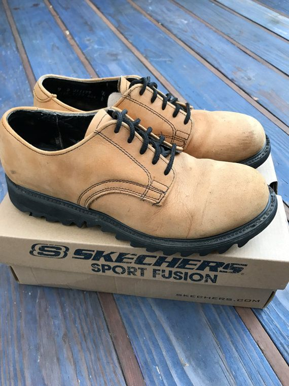 d75cec3695a3 Skechers Men s Camel Brown Suede Oxford Shoe 1990 s Lace Up