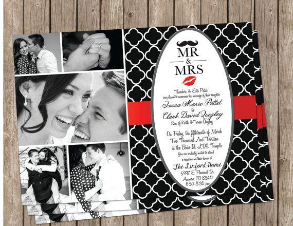 5b440a6827d7970bff28f7e5eda7648b red wedding invitations shower invitations 44 best wedding invitations images on pinterest,Wedding Invitations Red Black And White