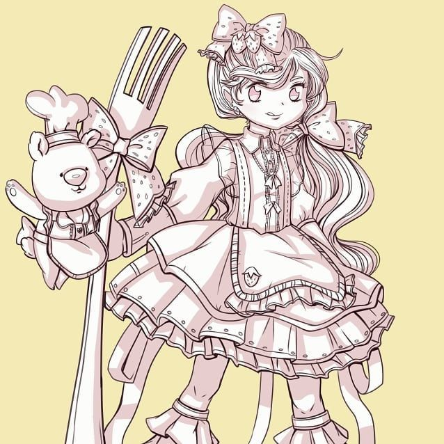 Magical March: Dessert   #magicalmarch #magicalmarch2018 #artwork #art #artist #illustration #illustrator #drawingoftheday #drawing #digitalart #instaart #instaartist #artlife #artgallery #instadraw #artoftheday #magicalgirl #neko #kawaii #cute