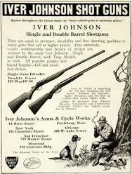 Vintage Iver Johnson shotgun ad