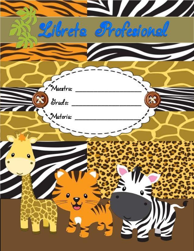 Libreta profesional 2014 safari by Olga Martínez via slideshare