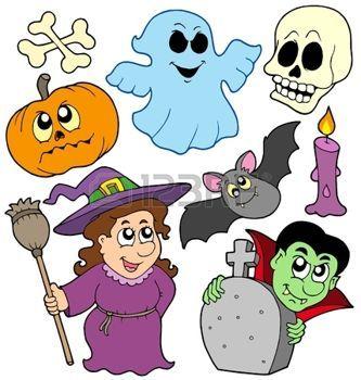 fantome dessin: Collection de bandes dessinées de Halloween - illustration vectorielle.