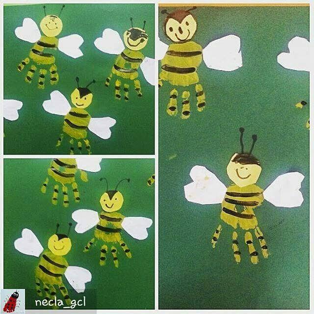 Bienen Bastelidee für Kinder | Bastelarbeiten und Arbeitsblätter für Vorschul…