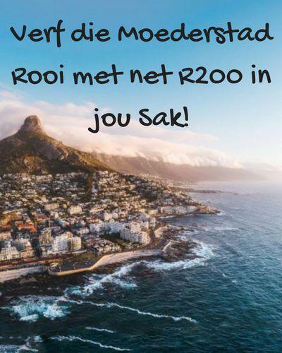 'n Vakansie in Kaapstad hoef jou nie 'n arm en 'n been te kos nie!
